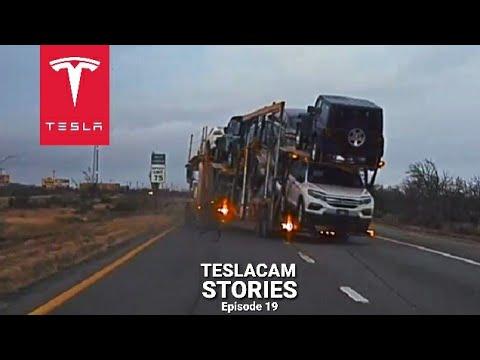 TESLA CAUGHT TRUCK CRASH | TESLACAM STORIES #19