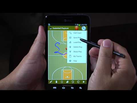 Video of Galaxy Note Coach's Playbook