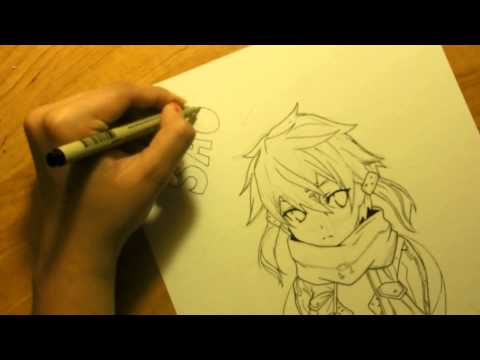 Drawing Sinon From Sword Art Online II And Watercolor