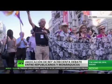 España: La abdicación del rey encona el debate entre republicanos y monárquicos