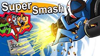 SuperSmash - VANOSS VS TERRORISER VS MOO VS DELIRIOUS! (3D Stick Fight Game)