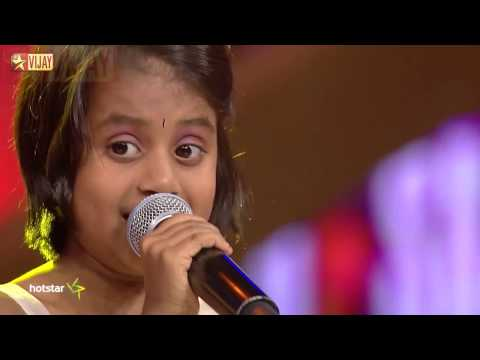 Super Singer Junior - Kuchi Kuchi Rakkamma by Sajini