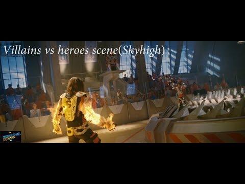 villains vs heroes scene(Skyhigh 2005)