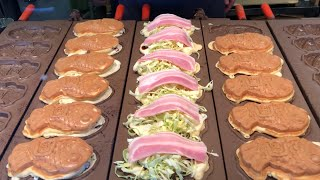 Video street food japan- taiyaki, okonomi taiyaki. 鯛焼き お好み鯛焼き MP3, 3GP, MP4, WEBM, AVI, FLV Februari 2019
