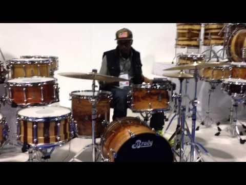 Brady Drums NAMM 2014 Chris Dave plays the Be Bop Kit