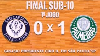 Primeiro jogo da decisão da categoria sub-10 do Campeonato Estadual de Futsal Categorias Menores Série A1. Gol de Gustavo para o Palmeiras.