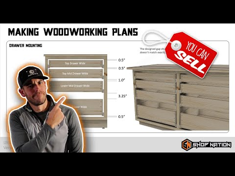 How I Make Woodworking Plans // Woodworking Business