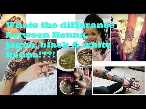 The Difference between: Natural henna, black henna, jagua, and white henna
