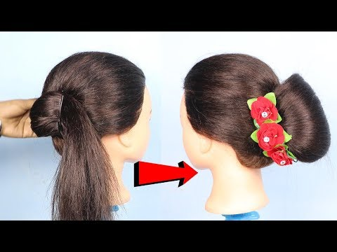 New hairstyle - New French Bun For Short And Thin Hair  hair style girl  French bun hairstyle for girls  2019