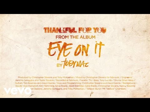 Tekst piosenki Tobymac - Thankful For You po polsku