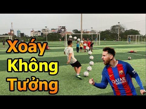 Thử Thách Bóng Đá sút phạt xoáy như Messi Quang Hải Nhí trổ tài làm thủ môn đấu Đỗ Kim Phúc - Thời lượng: 4 phút, 32 giây.
