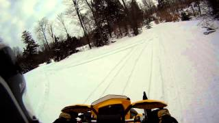 6. 2012 Ski-Doo MXZ-XRS 800R E-TEC Wheelies & Ride