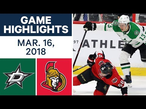 Video: NHL Game Highlights | Stars vs. Senators - Mar. 16, 2018