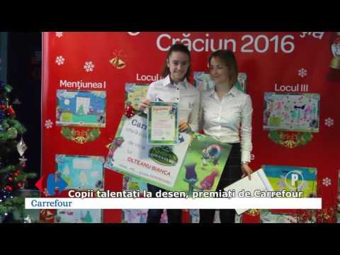 Copii talentați la desen, premiați de Carrefour