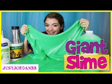 Giant Slime Making With Giant Ingredients  JustJordan33