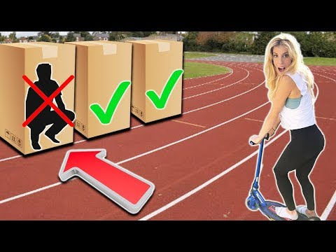 Do Not Run Over Hiding Person in the Box Challenge!