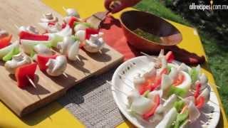 Cómo hacer alambres de verduras