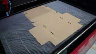 Cięcie tektury trójwarstwowej 3mm – Plotery Laserowe Serom serii SL