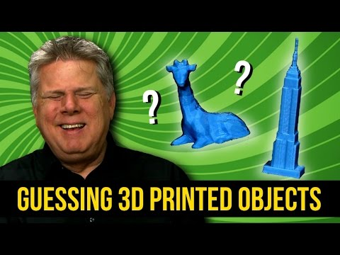Blind man tries to guess 3D printed objects of large things