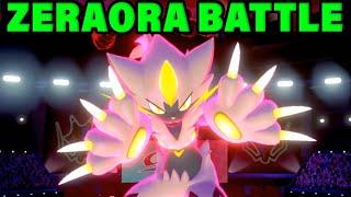 SHINY ZERAORA GAMEPLAY - Zeraora Battles In Pokemon Sword and Shield! by Verlisify