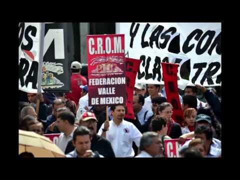 Plant�n de la CROM en el Senado de la Rep�blica, contra Reforma a la Ley Federal del Trabajo
