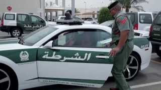 Dubai Police Camaro SS On Patrol