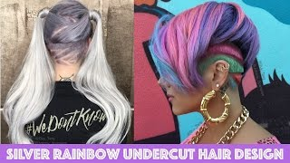 Video Silver Rainbow Undercut Hair Design MP3, 3GP, MP4, WEBM, AVI, FLV Januari 2019