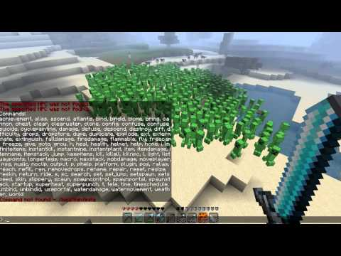 1500 Creepers+100 Wolves+1000000 Chickens=LOLZ