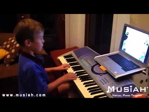 Piano Video: Online Piano Lesson #31 Frere Jacques played by Jackson