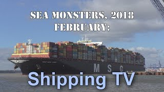 Video Sea Monsters, February 2018 - World's Largest Container Ships MP3, 3GP, MP4, WEBM, AVI, FLV Juni 2018