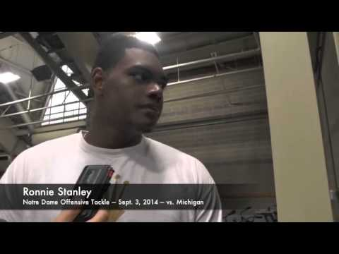 Ronnie Stanley Interview 9/4/2014 video.