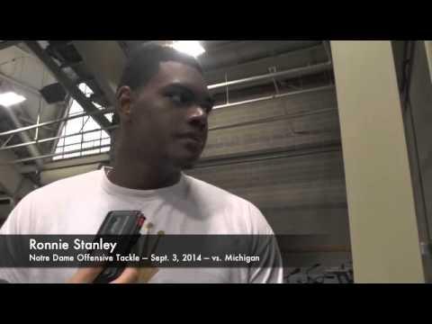 Ronnie Stanley Interview 9/4/2014 video.