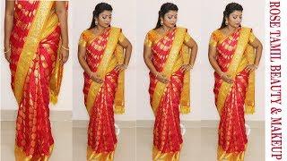 Video பட்டு புடவைய இப்படி கட்டினால் ஒல்லியாக தெரிவீர்கள் how to wear pattu(Silk) saree perfectly in tamil MP3, 3GP, MP4, WEBM, AVI, FLV Oktober 2018