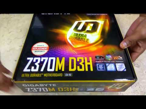 Gigabyte Z370M D3H Motherboard Micro ATX Unboxing  Tech Land