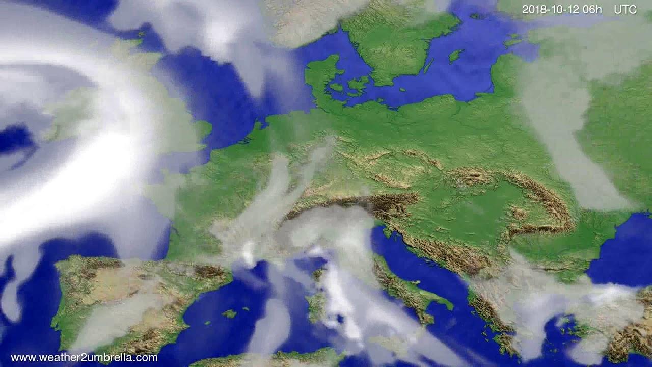 Cloud forecast Europe 2018-10-09