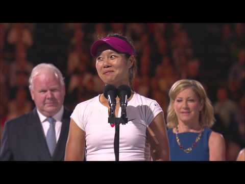 Li - Li Na entertains the crowd with a funny speech after her women's singles final victory. Li defeated Cibulkova to take out her first Australian Open crown 7-6...