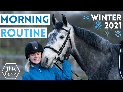 MORNING ROUTINE of an Equestrian | Winter 2021 AD | This Esme