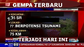 Video TERBARU!!! Gempa Bumi Hari Ini Berpotensi Tsunami | Sumber BMKG MP3, 3GP, MP4, WEBM, AVI, FLV Februari 2019