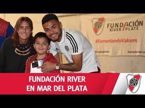 Visita de la Fundación River junto a Paulo Díaz en Mar del Plata