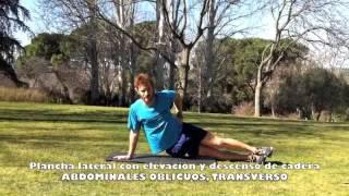 Elevación y descenso de cadera desde plancha lateral