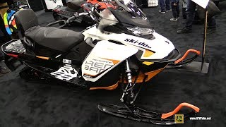 10. 2018 Ski Doo Renegade Adrenaline 850 E-Tec Sled - Walkaround - 2017 Drummondville ATV Show