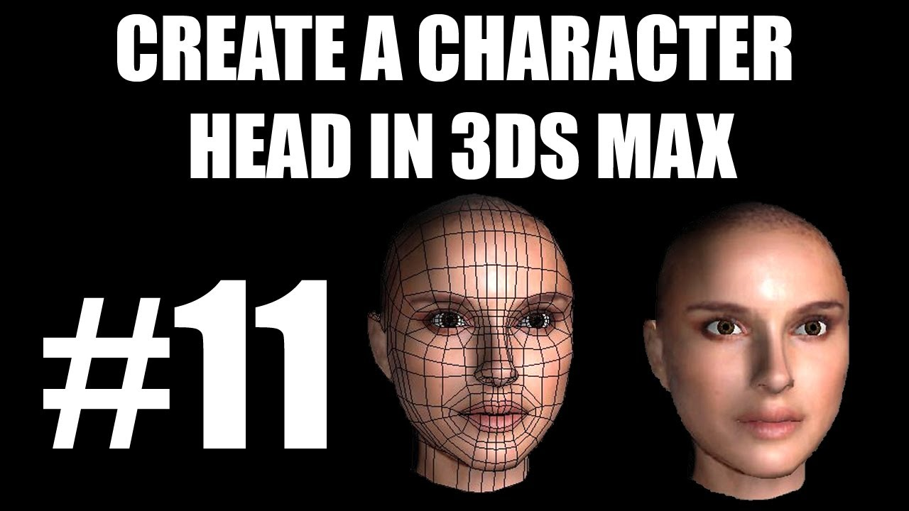 head modelling natalie portman 3ds max tutorials 3dtutor