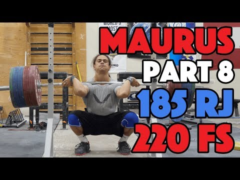 Harrison Maurus Part 8/11 Pre 2017 WWC Training 185kg Rack Jerk + 220kg Front Squat [4k60]