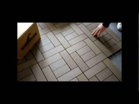 WPC Kompozit Ahşap Karo Deck - WPC Composite Decking Tiles DIY style