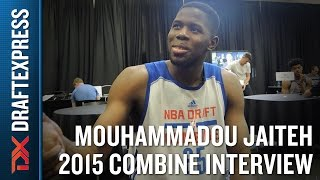 Mam Jaiteh 2015 NBA Draft Combine Interview