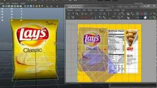 Autodesk Maya 2013 - Potato Chips Bag Modeling