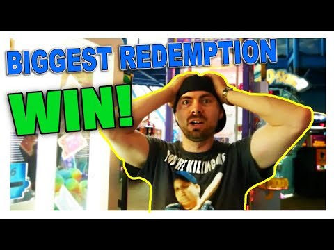 My Biggest Arcade Redemption Game Win Ever! Kalahari Dells ArcadeJackpotPro