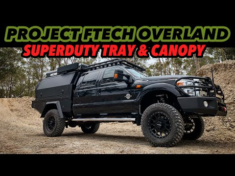 THE ULTIMATE HEAVY DUTY OVERLAND TRUCK. F250 TRAY AND CANOPY REVEAL ! Mits Alloy Newcastle.