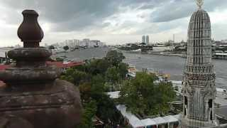 Bangkok Wat Arun View From The Wat Top