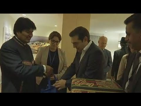 Ο Α.Τσίπρας συνάντησε τον Έβο Μοράλες στο περιθώριο της Γενικής Συνέλευσης του ΟΗΕ